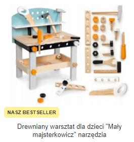 Drewniany warsztat dla dzieci